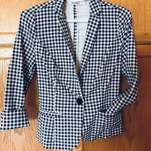 Checkered stretch blazer